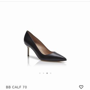 Manolo Blahnik calf leather pointed toe Pumps